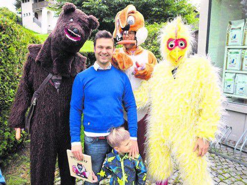"""Christoph Lechner und seine """"Haustiere"""".  Fotos: Piller"""