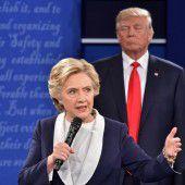 Letztes Duell zwischen Trump und Clinton