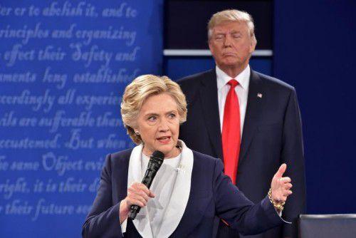 Clinton führt derzeit klar in den Umfragen.  Foto: AFP