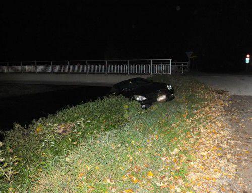 """Das Auto blieb heil, doch der """"Lappen"""" ist futsch. Foto: Polizei"""