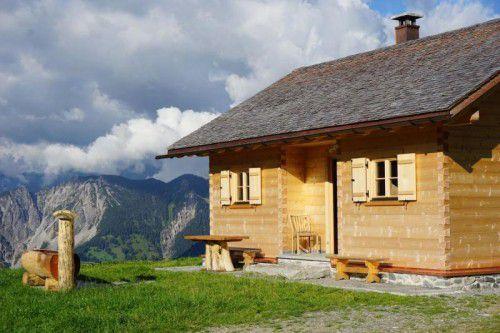 Das neue Alpgebäude der Voralpe Tschöppa wurde kürzlich feierlich eingeweiht. Foto: sto