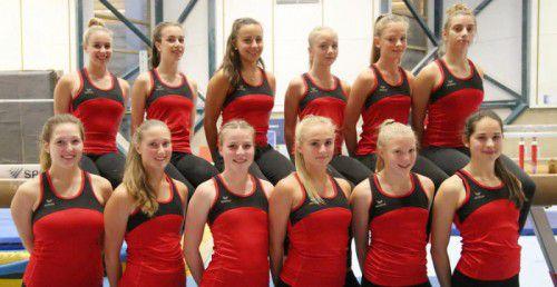 Das rot-weiß-rote EM-Aufgebot der Juniorinnen im Teamturnen besteht nur aus Aktiven der Vorarlberger Turnerschaften Höchst, Hohenems, Lustenau und Wolfurt. Foto: ÖFT