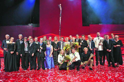 Das Stelldichein der Sportfamilie: Bei der Sporthilfe-Lotterien-Galanacht in Wien wurden die besten Sportler, Sportlerinnen, Mannschaften und Spezialpreise vergeben. Foto: gepa