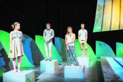 """Das Stück """"Jeunesse dorée"""" des Grazer Autors Johannes Hoffmann wurde gestern Abend im Bregenzer Theater Kosmos uraufgeführt. Foto: Lisa Mathis"""
