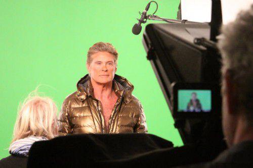 Macht gute Figur und unbezahlbare Werbung für iFlow: Hollywood-Star David Hasselhoff.  Foto: Alpinresorts.com