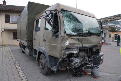 Der Bundesheer-Lkw war auf einer Schulungsfahrt unterwegs, als der Unfall passierte.