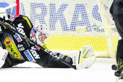 Der Dornbirner EC braucht in den nächsten Spielen eine stabile Leistung von Torhüter Florian Hardy. Foto: stiplovsek