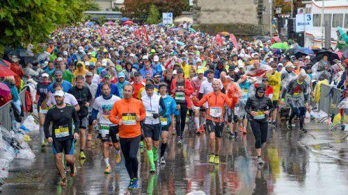 Der Dreiländer-Marathon ist ein Fest für viele Läufer. Foto: lerch
