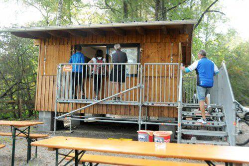 Der neu errichtete Kiosk im Rheinholz in Gaißau. Foto: ajk