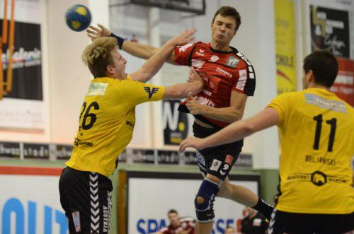 Der Weißrusse Hleb Harbuz hatte mit zehn Toren großen Anteil am 31:28-Sieg von Schwaz über Bregenz. Verein