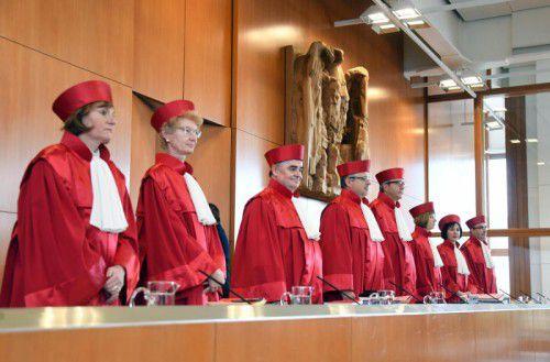 Der Zweite Senat beim Bundesverfassungsgericht in Karlsruhe verhandelt seit Mittwoch zu Eilanträgen gegen Ceta. Foto: dpa