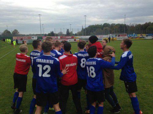 Die AKA U-16 Auswahl konnte als einzige Vorarlberger Truppe einen Sieg bejubeln. Foto: vn