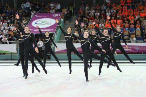 Die Burschen der TS Wolfurt belegten bei der Teamturn-EM in Slowenien wie 2014 den fünften Endrang. Foto: Verein
