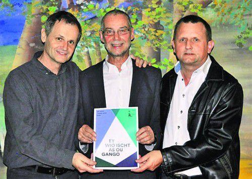 Die Chronisten: Richard Moosbrugger (l.), Obmann und Gesamtorganisator Jürgen Metzler und Josef Anton Meusburger. Fotos: Verein
