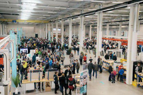 Die Einladung zum Tag der offenen Tür bei Meusburger in Lingenau nahmen 3200 Menschen an. Foto: IKP