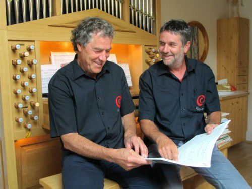 Die erfolgreichen Kuratoren der Chor- und Orgeltage, Peter Amann und Christoph Wallmann, feiern heuer ein Jubiläum. Foto: JU