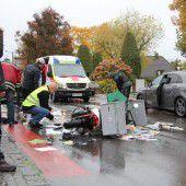 Fußgängerin bei Unfall mit Motorrad verletzt