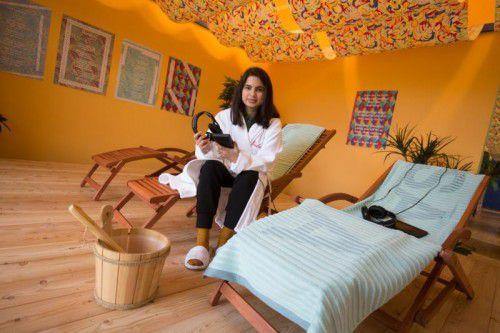 """Die Installation """"La Sauna Caliente"""" der venezolanischen Künstlerin wird heute eröffnet.  Foto: VN/Hartinger"""