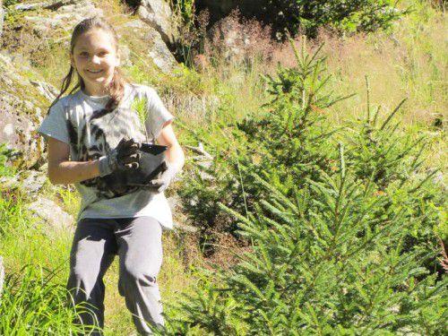 Die Juniorförster genossen ihre Ausbildung im Wald.