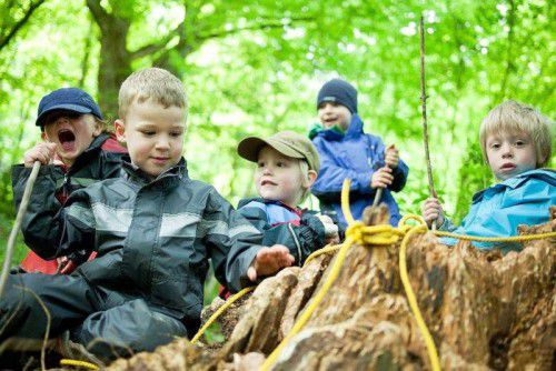 Die Kinder haben das Waldsofa in Bregenz erneuert.