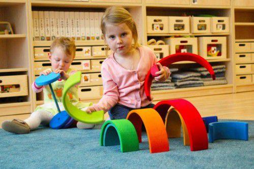 Die neue Kleinkinderbetreuung Buntstiftle in den Räumlichkeiten der Caritas Werkstätte Bludenz findet bei den Kindern großen Anklang. Foto: VN/js