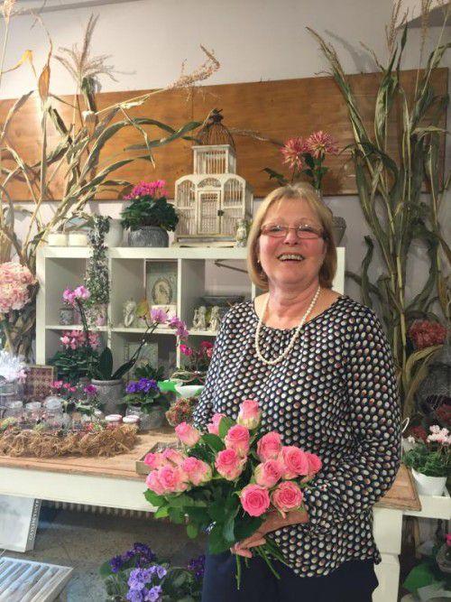 Die pensionierte Floristin Mathilde Ressmann widmet nun ihre Zeit dem elitären Frauenclub der Soroptimistinnen in Bregenz. Foto: VN/HEEL