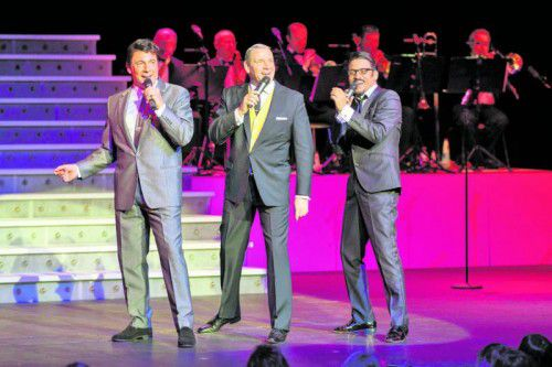 """Die Show lässt die legendären """"Rat Pack"""" für einen Abend auf der Bühne lebendig werden.  Foto: andre juchli"""