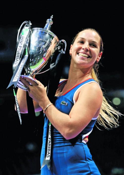 Dominika Cibulkova sicherte sich mit dem Finalsieg gegen Angelique Kerber den WTA-Titel.  Foto: Reuters