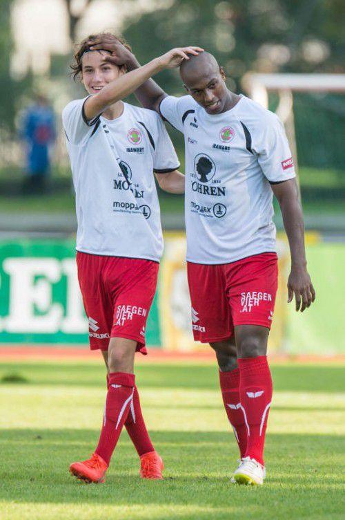 Dornbirn hofft auf Tore von Ygor Carvalho Vieira (r.). VN-Stiplovsek