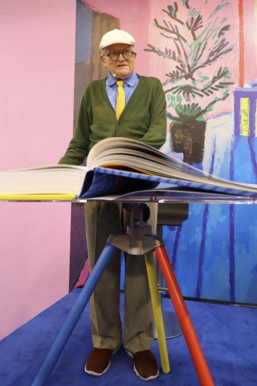 Ein Star der Buchmesse ist der Maler David Hockney. Reuters