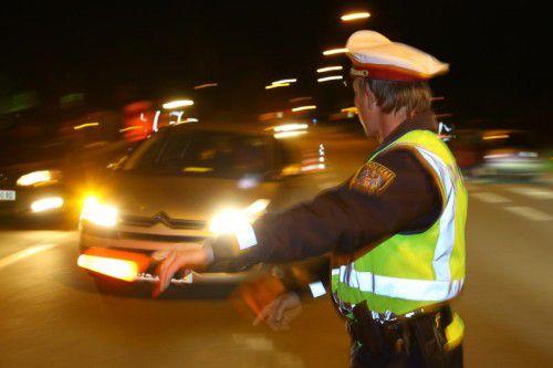 Bregenz und Dornbirn waren am vergangenen Samstag die Kontrollschwerpunkte der Polizei auf der Jagd nach Alko- und Drogensündern. hofmeister
