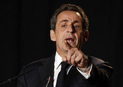 Er ist wieder da und will wieder Präsident werden: Sarkozy. afp