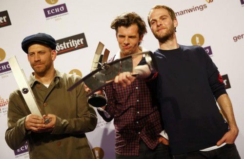 Erfolgreiches Trio: Peter Brugger, Florian Weber und Rüdiger Linhof.               Foto: Reuters