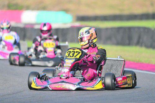 Erneut eine starke Kart-Saison fuhr der Lauteracher Christoph Hold. ch