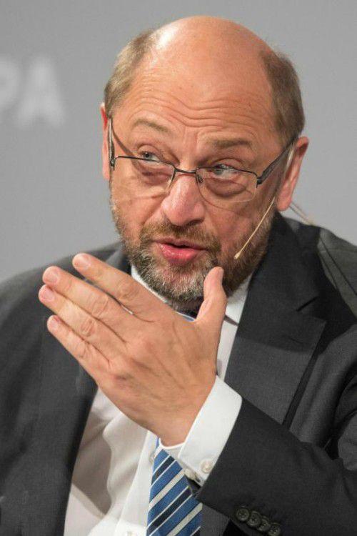 EU-Parlamentschef Schulz zeigte sich pessimistisch. AFP