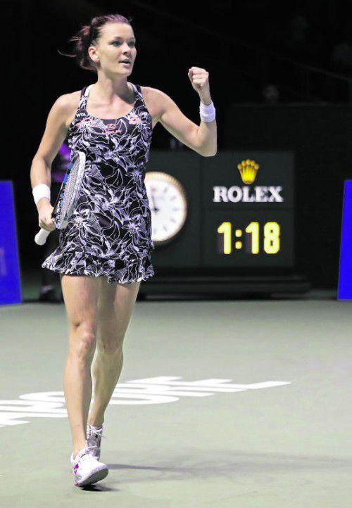 Fordert im Halbfinale Kerber: Agnieszka Radwanska. Foto: ap