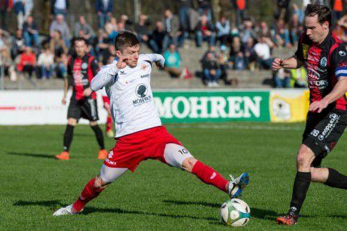 Franco Joppi gibt nach langer Verletzungspause ein Comeback im Trikot des FC Dornbirn gegen Leader Anif. Foto: Stiplovsek