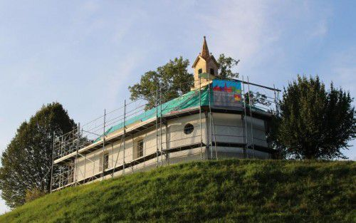 Franz-Xaver-Kapelle in Hohenweiler wird derzeit saniert. Foto: stp