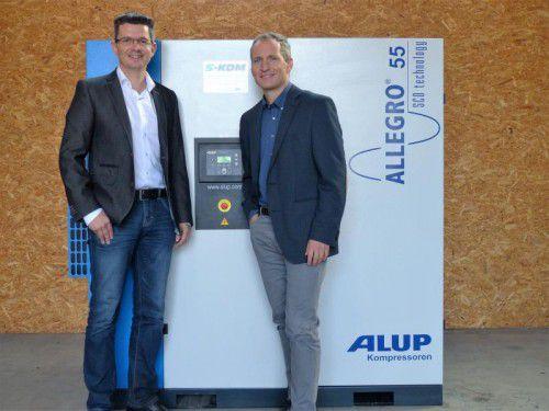 Führungsteam: Martin Stocker (Verkaufsleiter) und Rainer Klement (Geschäftsführer). Foto: skom