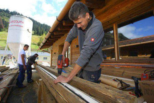 Für die vielen Handwerker gibt es Hoffnung. Findet sich ein Investor, könnten die Arbeiten weitergehen. Foto: VN/Hofmeister