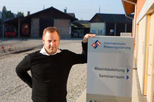 Hat als Rheinbauleiter einen sehr verantwortungsvollen Job übernommen: Mathias Speckle.  Foto: VN/Hartinger