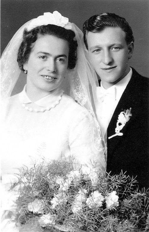 Hochzeitstag am 15. Oktober 1956.