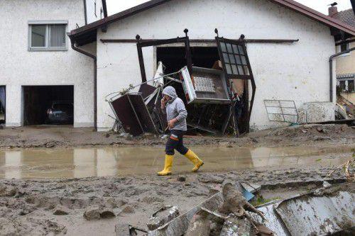 In Simbach haben Unwetter extreme Schäden angerichtet. AFP