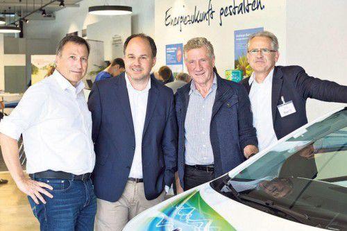 Initiatoren: Helmut Mennel (Illwerke VKW), VN-CR Gerold Riedmann, LR Erich Schwärzler und Christof Germann (Illwerke VKW). Foto: mathis
