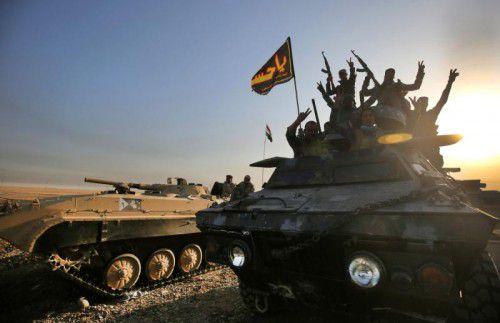 Irakische Streitkräfte haben die lange geplante Militäroffensive auf Mossul eingeläutet.  Foto: AFP