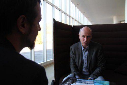 Jochen Müller war kürzlich in Bregenz zu Gast und sprach vor Lehrern und anderen Pädagogen. Die VN trafen ihn zum Interview.  Foto: VOL.at/Rauch