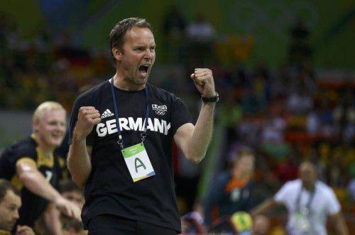 Jubel bei Dagur Sigurdsson nach Olympia-Bronze in Rio.  reuters
