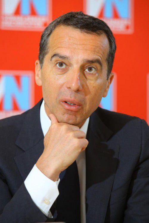 Kanzler Christian Kern will was für Pensionisten tun. VN/Hofmeister