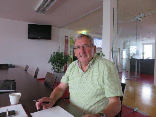Karl-Heinz Winkler war maßgeblich am Aufbau des Dornbirner Stadtbussystems beteiligt. Foto: ha
