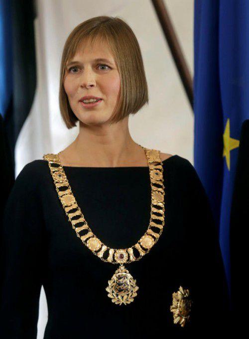 Kersti Kaljulaid ist Estlands neues Staatsoberhaupt. Foto: reuters